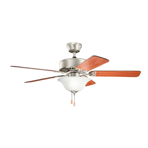 Kichler Lighting Kichler Lighting Renew Select Brushed Nickel Ceiling Fan with Light 330110NI