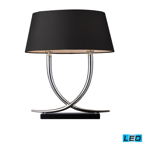 Dimond Lighting Dimond Lighting Chrome, Black LED Table Lamp with Oval Shade D1486-LED