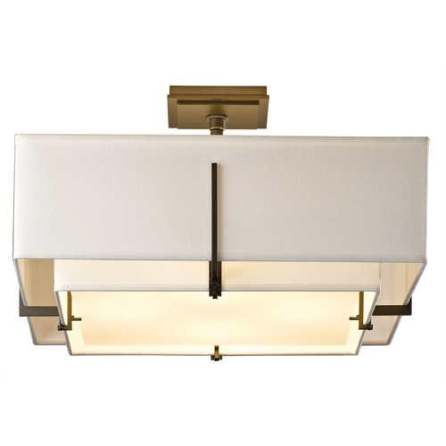 Hubbardton Forge Lighting Hubbardton Forge Lighting Exos Dark Smoke Semi-Flushmount Light 126510-SKT-07-SFSF