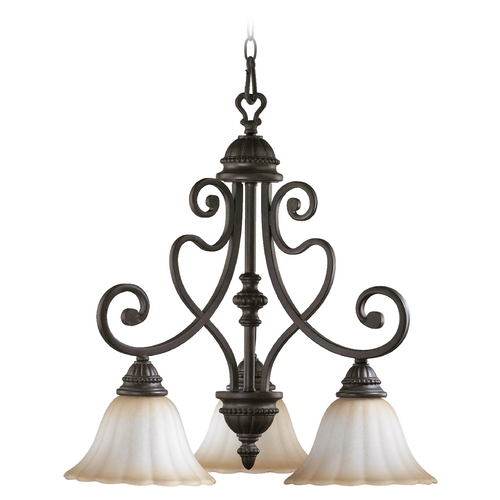 Quorum Lighting Quorum Lighting Summerset Toasted Sienna Chandelier 6326-3-44