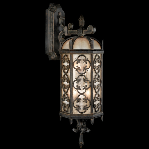 Fine Art Lamps Fine Art Lamps Costa Del Sol Marbella Wrought Iron Outdoor Wall Light 338481ST