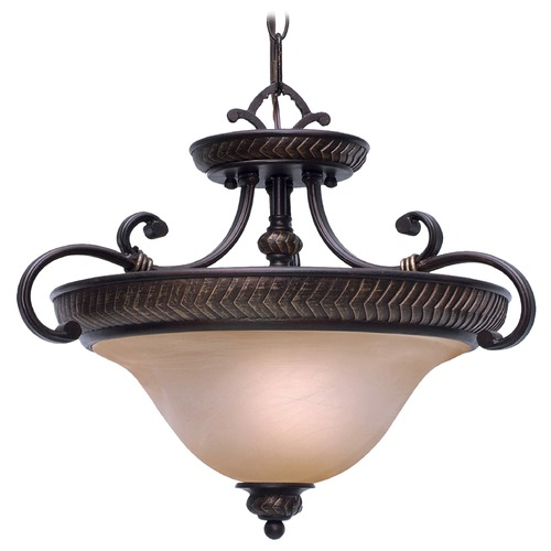 Golden Lighting Golden Lighting Jefferson Etruscan Bronze Pendant Light 6029-SF EB