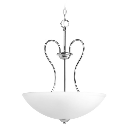 Progress Lighting Progress Lighting Heart Polished Chrome Pendant Light with Bowl / Dome Shade P3955-15