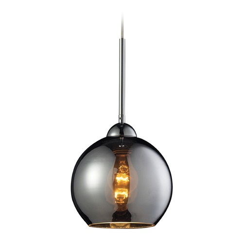 Elk Lighting Elk Lighting Cassandra Polished Chrome Mini-Pendant Light with Globe Shade 10240/1CHR