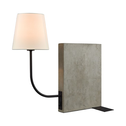 Dimond Lighting Dimond Sector Concrete and Oil Rubbed Bronze Table Lamp with Empire Shade D3206