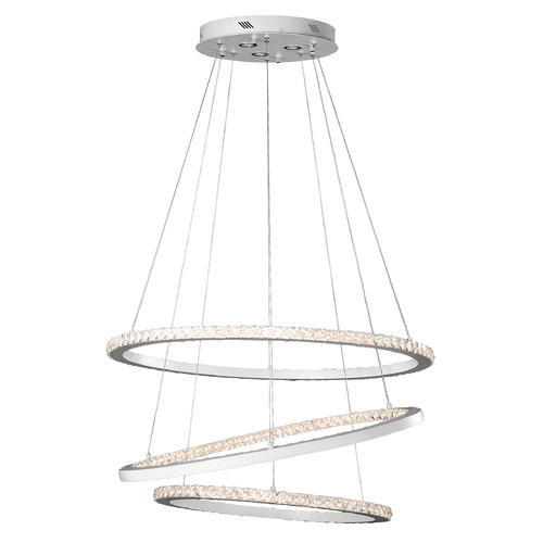 Elan Lighting Elan Lighting Allos Flat White LED Chandelier 83405