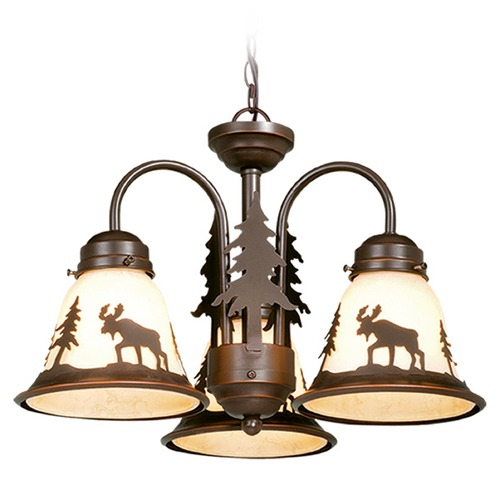 Vaxcel Lighting Yellowstone Burnished Bronze Mini-Chandelier by Vaxcel Lighting LK55616BBZ-C