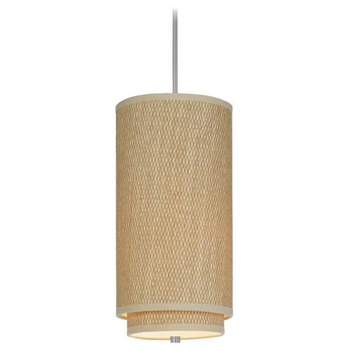 ET2 Lighting Modern Mini-Pendant Light with Brown Shade E95042-101SN