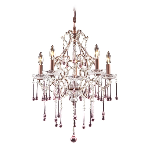 Elk Lighting Crystal Chandelier in Rust Finish 4012/5RS
