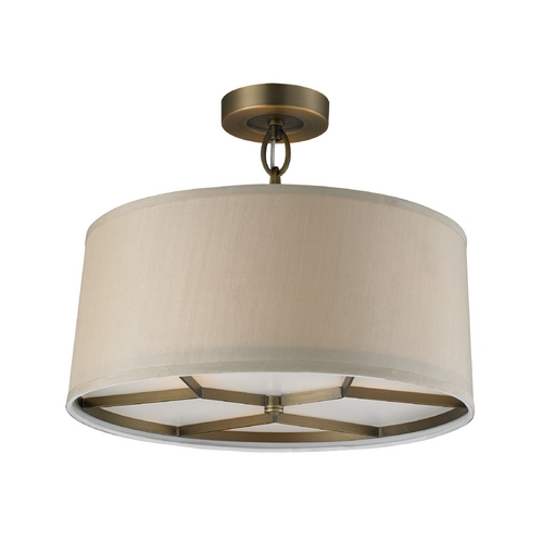 Elk Lighting Pendant Lights in Brushed Antique Brass Finish 31262/3