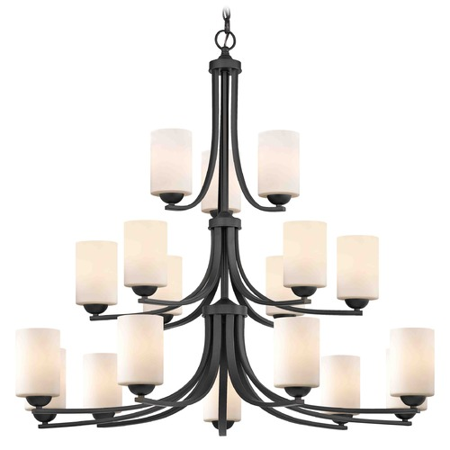 Design Classics Lighting Design Classics Dalton Fuse Neuvelle Bronze Chandelier 5863-220 GL1028C