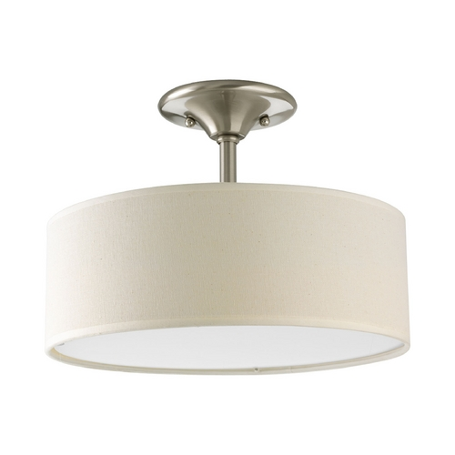 Progress Lighting Progress Semi-Flushmount Lights in Brushed Nickel Finish P3939-09