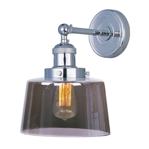 Maxim Lighting Maxim Lighting Mini Hi-Bay Polished Nickel Sconce 25069MSKPN/BUI