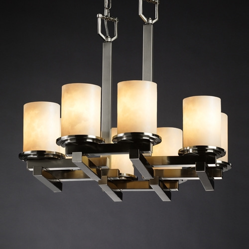 Justice Design Group Justice Design Group Clouds Collection Chandelier CLD-8770-10-NCKL