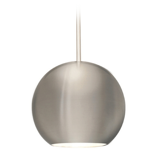 WAC Lighting Wac Lighting Industrial Collection Brushed Nickel Mini-Pendant with Bowl / Dome Sha MP-953-BN/BN
