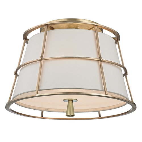 Hudson Valley Lighting Hudson Valley Lighting Savona Aged Brass Semi-Flushmount Light 9814-AGB