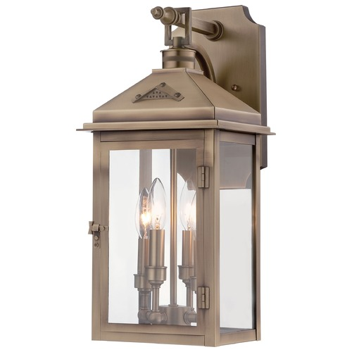 Minka Lighting Minka Lighting Eastbury Colonial Brass Outdoor Wall Light 72432-261
