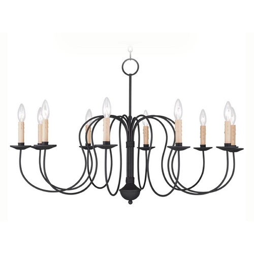 Livex Lighting Livex Lighting Heritage Black Chandelier 4529-04
