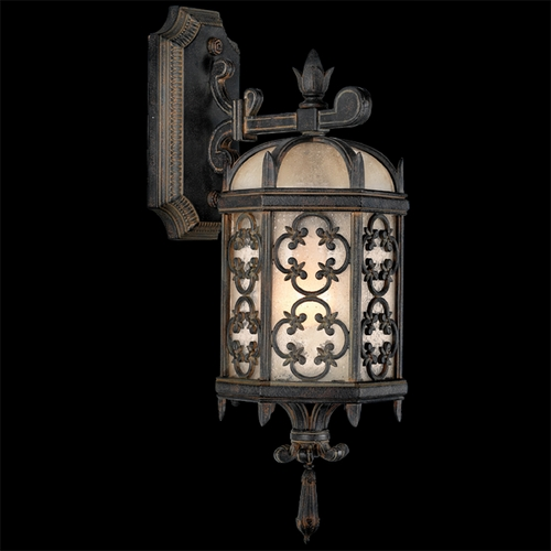 Fine Art Lamps Fine Art Lamps Costa Del Sol Marbella Wrought Iron Outdoor Wall Light 338581ST