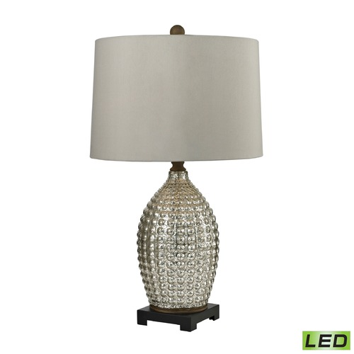 Dimond Lighting Dimond Lighting Antique Mercury, Bronze LED Table Lamp with Drum Shade D2601-LED