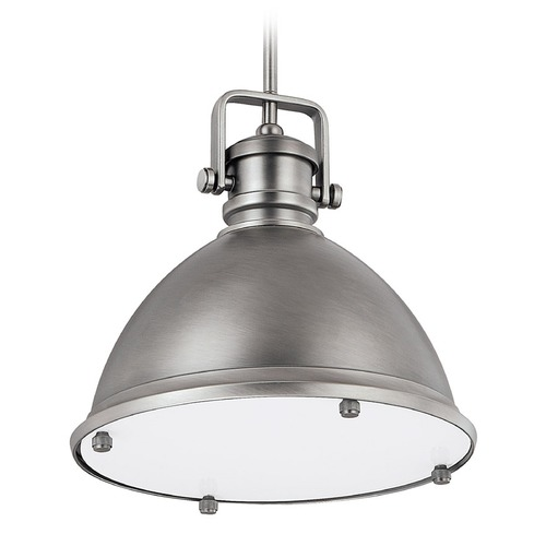 Capital Lighting Capital Lighting Antique Nickel Pendant Light with Bowl / Dome Shade 4432AN