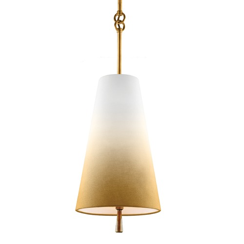 Feiss Lighting Feiss Tori Bali Brass Mini-Pendant Light with Empire Shade P1327BLB