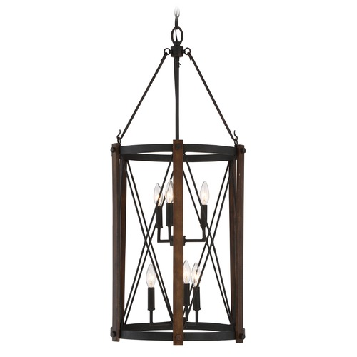 Quoizel Lighting Quoizel Baron Marcado Black Pendant Light BRO5204MK