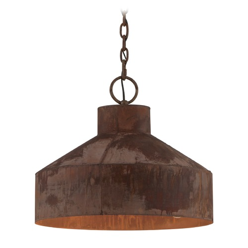 Troy Lighting Troy Lighting Rise & Shine Rust Patina Pendant Light with Bowl / Dome Shade F5263