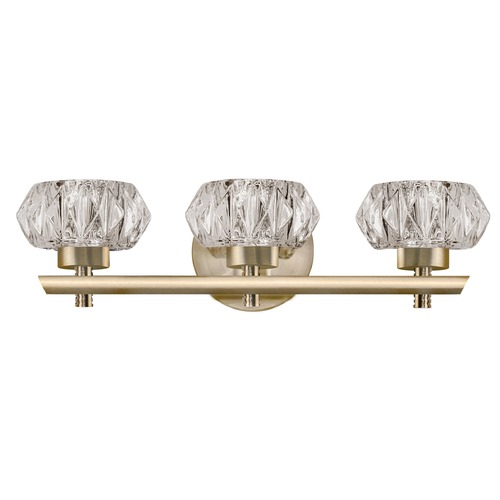 Kuzco Lighting Modern Vintage Brass LED Bathroom Light with Clear Shade 3000K 1200LM VL54216-VB