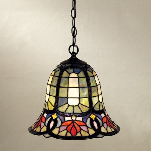 Quoizel Lighting Pendant Light with Multi-Color Glass TF1737VB