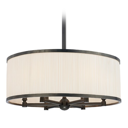 Hudson Valley Lighting Hudson Valley Lighting Hastings Old Bronze Pendant Light with Drum Shade 5224-OB