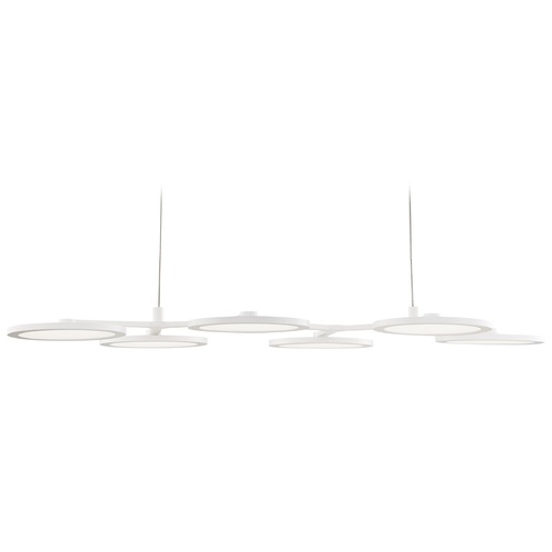 Quoizel Lighting Quoizel Lighting Nitro White Lustre LED Island Light with Drum Shade PCNR639W