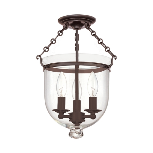 Hudson Valley Lighting Semi-Flushmount Light with Clear Glass in Old Bronze Finish 251-OB-C1