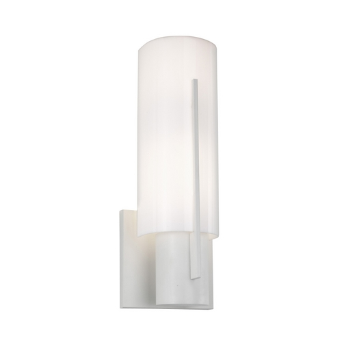 Sonneman Lighting Modern Sconce Wall Light with White in Satin White Finish 1711.03AF