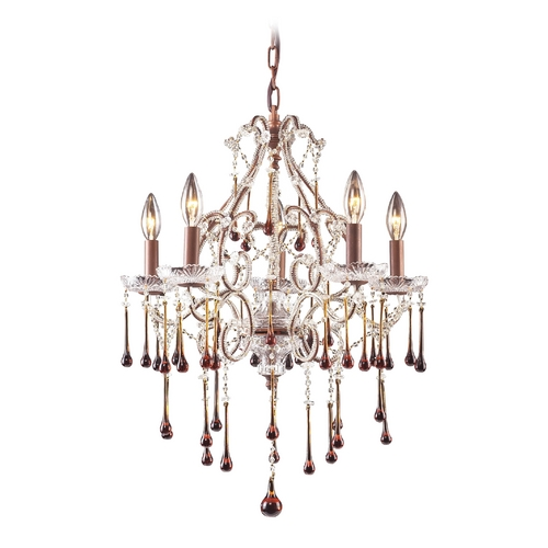 Elk Lighting Mini-Chandelier in Rust Finish 4012/5AMB