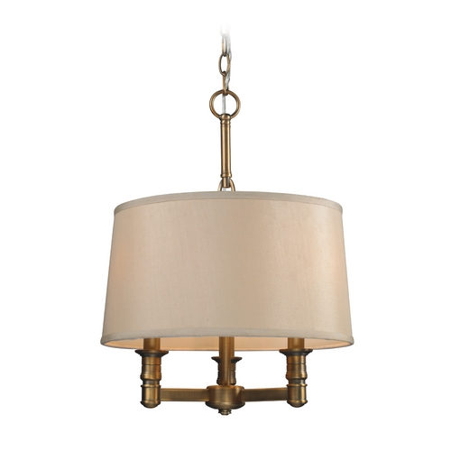 Elk Lighting Pendant Lights in Brushed Antique Brass Finish 31264/3