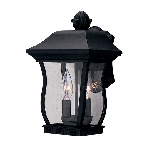 Designers Fountain Lighting Outdoor Wall Light with Clear Glass in Black Finish 2712-BK