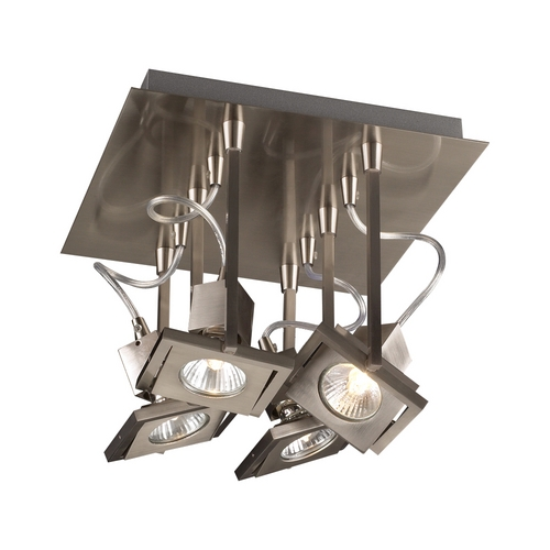 PLC Lighting Modern Directional Spot Light in Satin Nickel Finish 1276 SN