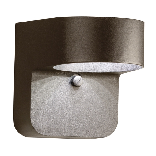 Kichler Lighting Kichler Modern LED Outdoor Wall Light in Bronze Finish 11077AZT