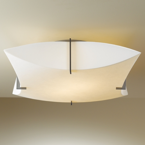 Hubbardton Forge Lighting Hubbardton Forge Lighting Bento Dark Smoke Semi-Flushmount Light 126620-SKT-07-SH1999