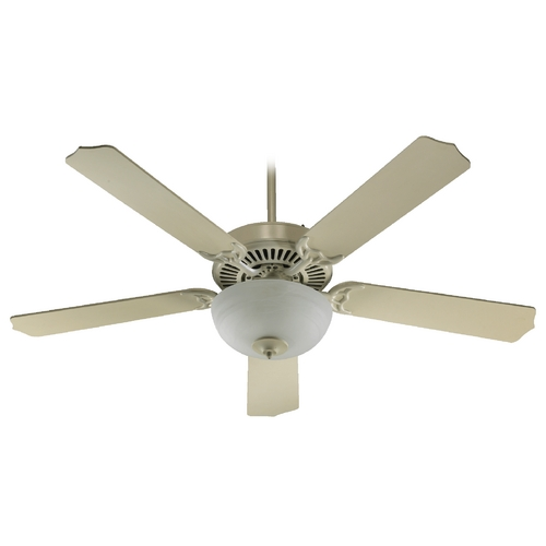 Quorum Lighting Quorum Lighting Capri Iii Antique White Ceiling Fan with Light 77525-9267