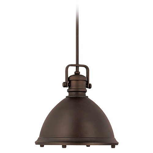 Capital Lighting Capital Lighting Burnished Bronze Pendant Light with Bowl / Dome Shade 4432BB