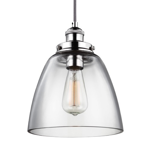 Feiss Lighting Feiss Baskin Polished Nickel Mini-Pendant Light P1349PN