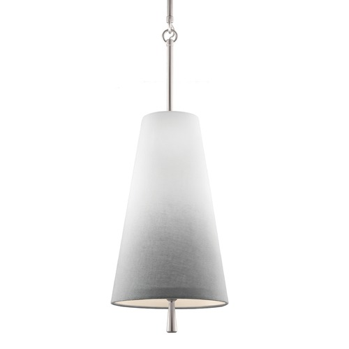 Feiss Lighting Feiss Tori Satin Nickel Mini-Pendant Light with Empire Shade P1327SN