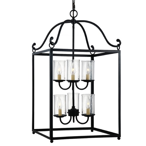 Feiss Lighting Feiss Lighting Declaration Antique Forged Iron Mini-Chandelier F2970/6AF