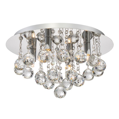 Quoizel Lighting Quoizel Lighting Bordeaux with Clear Crystal Polished Chrome Flushmount Light BRX1614C