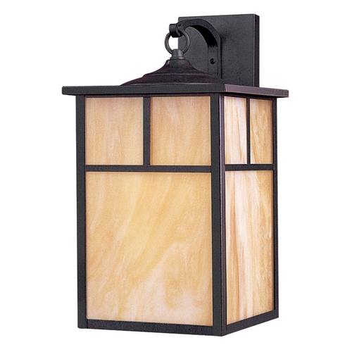 Maxim Lighting Outdoor Wall Light with Beige / Cream Glass in Burnished Finish 4054HOBU