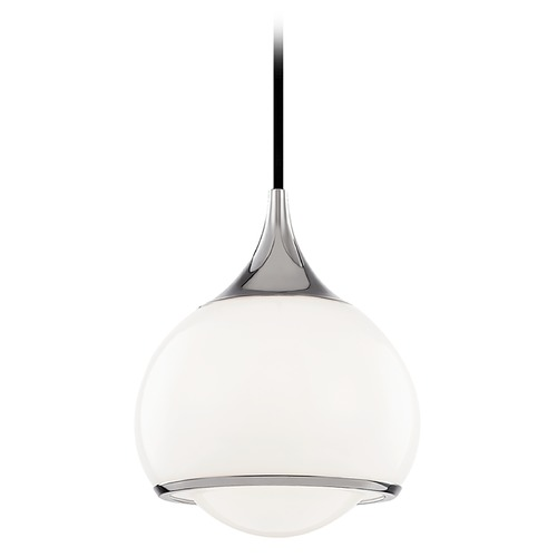 Mitzi by Hudson Valley Mitzi By Hudson Valley Reese Polished Nickel Mini-Pendant Light with Bowl / Dome Shade H281701S-PN