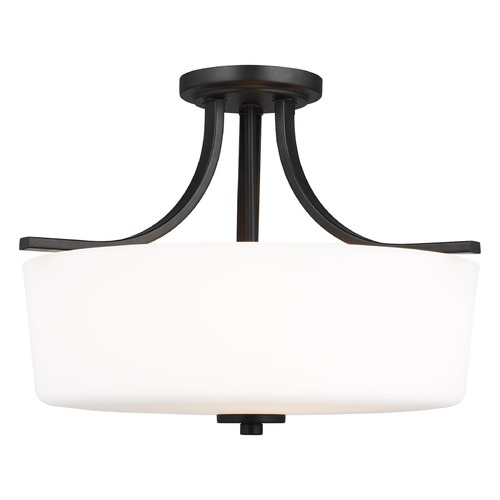 Sea Gull Lighting Sea Gull Lighting Kemal Midnight Black Semi-Flushmount Light 7728803-112