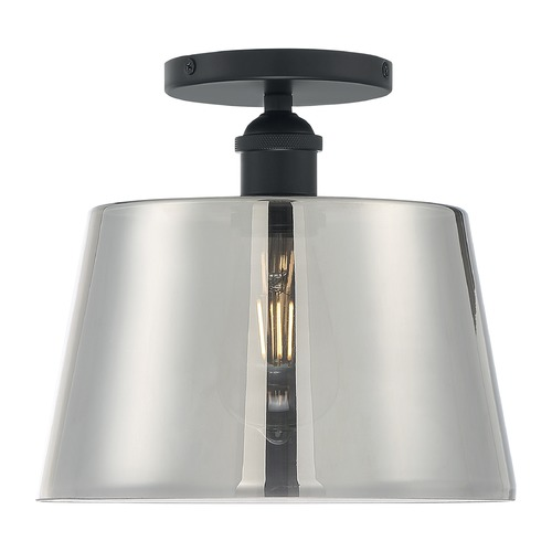Satco Lighting Satco Lighting Motif Black Semi-Flushmount Light 60/7334